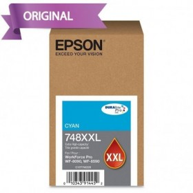 EPSON Workforce Pro 6590 / 8090 / 8590 Cartucho de Tinta Cyan T748XXL220-AL 10,000 pág.