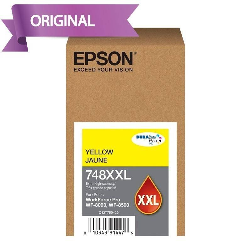 EPSON Workforce Pro 6590 / 8090 / 8590 Cartucho de Tinta Amarillo T748XXL420-AL 7,000 pág.