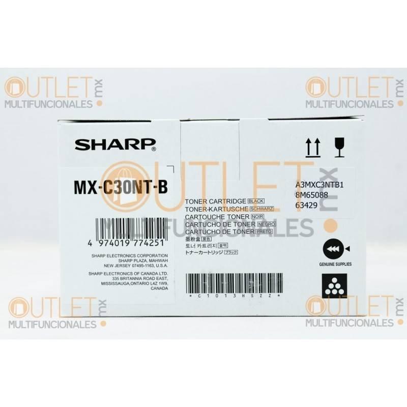 Cartucho de Toner Negro Original Sharp MXC30NTB