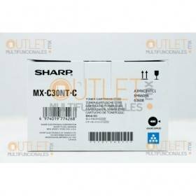 Cartucho de Toner Cyan Original Sharp MXC30NTBC