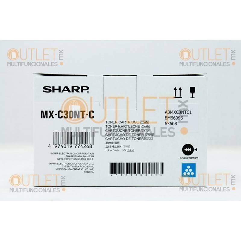 Cartucho de Toner Cyan Original Sharp MXC30NTBC