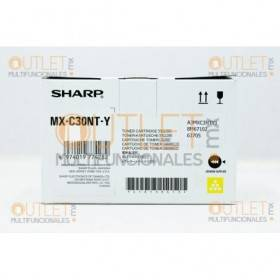 Cartucho de Toner Amarillo Original Sharp MXC30NTBY