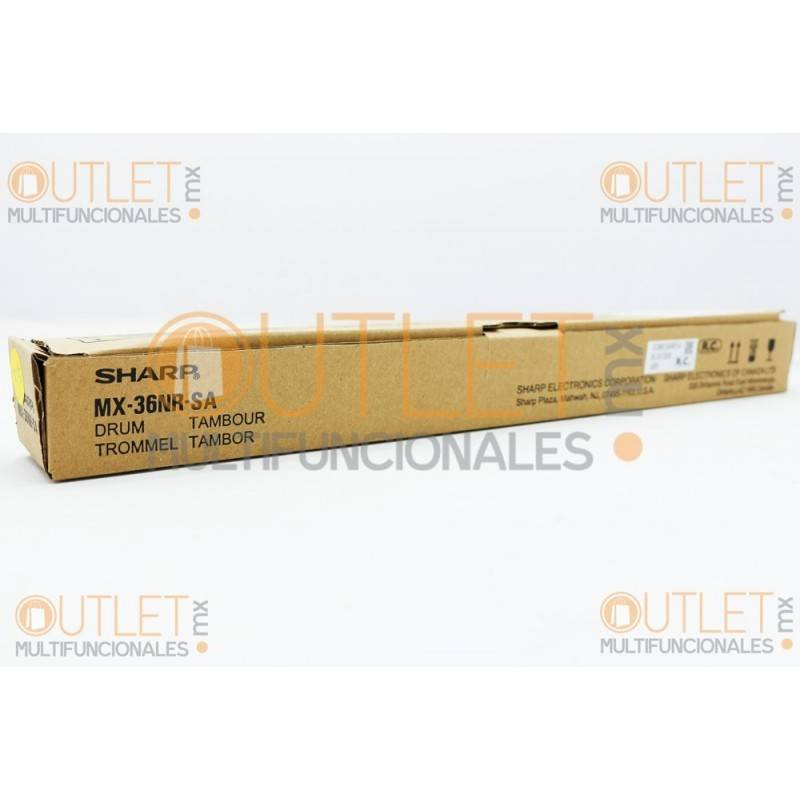 Cilindro Negro, Cyan, Magenta, Amarillo original Sharp MX36NRSA