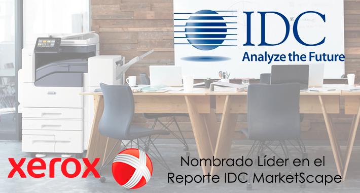Xerox Fue Nombrado Líder de MPS en el Reporte IDC MarketScape